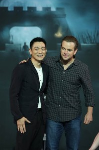 Andy Lau and Matt Damon team up with co-stars to promote 'The Great Wall' in Beijing, China